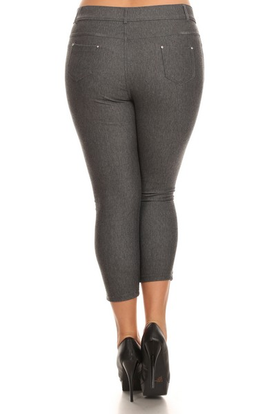 4936134caec Women s Cotton-Blend 5-Pocket Skinny Capri Jeggings - Plus style 3 · Enlarge